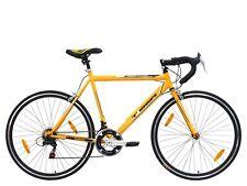TIGER 'PINNACLE' ROAD BIKE - 14 SPEED - UNISEX - Yellow/Black- 56cm FRAME