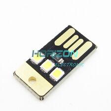 5PCS Card Lamp Bulb Led Keychain Mini LED Night Light Portable USB Power White
