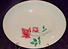 """Canonsburg Pottery Bermuda Rose Oval Platter 13 1/2"""" EXCELLENT RARE"""