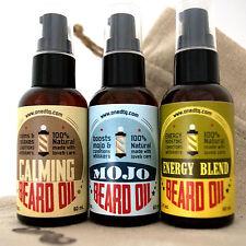OneDTQ Beard Oil Triple Set: Energy, MOJO & Calming. 100% Natural