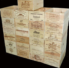 4 X GENUINE 12 BOTTLE LARGE WOODEN WINE CRATE / BOX / PLANTER / HAMPER STORAGE-