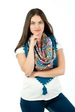 Colourful floral roses folk vintage Russian style scarf shawl Spring Collection