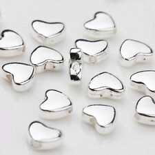 30Pcs Tibetan Silver Heart Shape Spacer Loose Bead Crafts Jewelry Findings 5x6MM