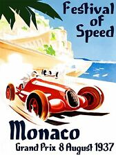 PRINT POSTER ADVERT GRAND PRIX CAR AUTOMOBILE FESTIVAL OF SPEED MONACO NOFL1033