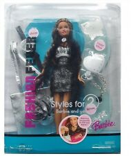 Barbie Fashion Fever Style For 2 Barbie And You Doll and accessories By Matte...