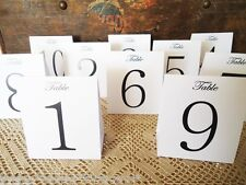 White Table Numbers 1 to 12 Tent Style Wedding Birthday Party Table Decorations