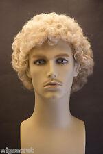 Champagne Blonde Blonde Curly Men Wig