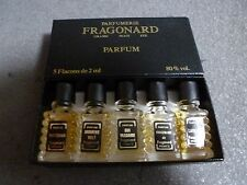 NEW IN BOX FRAGONARD PARFUM 5 MINIATURE BOTTLES FRANCE 2 ML EACH