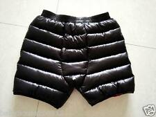Unisex Shiny nylon wet-look Down Shorts Pants Hose Knickers Breeches Panties New