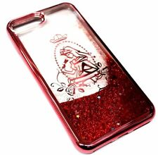 For iPhone 7 PLUS Rose Gold Princess Stars Glitter Sparkle Liquid Waterfall Case