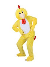 Adult Big Head Funky Little Chicken Fancy Dress Mascot Costume Farm Animal BN