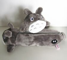 Studio Ghibli My Neighbour Totoro Grey Plush Cosmetic Pencil Case Bag Pouch
