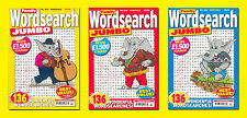 FAMILY WORDSEARCH JUMBO PUZZLE MAGAZINE BOOKS X 3
