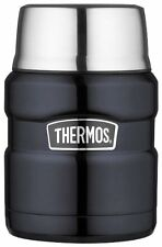 Thermos 16-Ounce Wide Opening Stainless King Food Jar Midnight Blue Hot Cold New