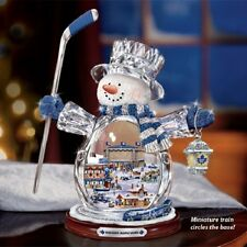 Toronto Maple Leafs Crystal Snowman Thomas Kinkade Bradford Exchange