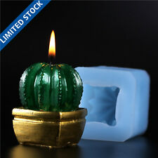 Nicole Factory Wholesale 3D Cactus Silicone Candle Soap Molds Resin Clay Crafts