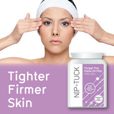 NIP & TUCK FORGET THE FACELIFT PILLS FACE ANTI WRINKLE TABLETS TIGHTER FIRMER