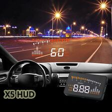 X5 Car HUD Projector Digital Head Up Display Speed Warning OBD II Speedometer