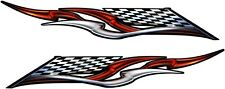 """Trailer Boat Car Truck Wall Ford Chevy Race Flag Graphics Decals Stickers 2-50"""""""