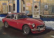 MG MGB GT V8 British Classic Car Christmas Xmas Card