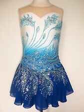 CUSTOM MADE FIGURE ICE SKATING BATON TWIRLING DANCE DRESS COSTUME