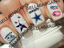 Top Quality《NFL Dallas Cowboys FOOTBALL LOGOS》Tattoo Nail Art Decals《NON-TOXIC