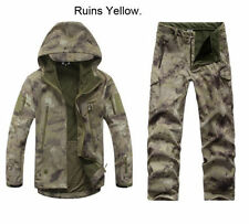 Men Outdoor Jacket Waterproof TAD Coat Hunting Shark Skin Coat clothes+pants