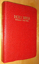KJV Holy Bible Red Letter Edition Dictionary Study Help Holman 1979