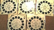 """Lot of 5 """"Holy Land"""" Reels by View master, all Vintage 1940's editions!"""