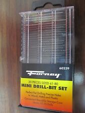Forney Mini Drill Bit Set   20PCS.  #60239  NEW
