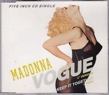 Madonna - Vogue **1990 Germany 2 Trk CD Single**VG Cond.