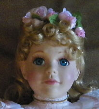 "Impressive Royal Doulton  ""Victoria Rose""  Ceramic Heirloom Doll"