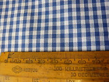 "5mts GOOD QUALITY UK PRODUCED COLOUR WOVEN 1/8"" GINGHAM CHECK FABRIC BLUE 152cms"