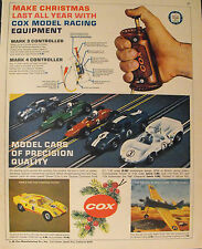 1965 Cox Model Slot~Gas Cars Kits:Jim Hall Chaparral~Ford GT Racing Toys AD