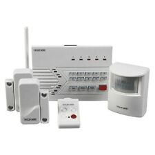 WIRELESS ALARM SYSTEM WITH TELEPHONE DIALER, 2 DOOR/WINDOW, 1 PIR SENSOR, REMOTE