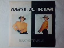 "MEL & KIM Respectable 7"" ITALY  STOCK AITKEN WATERMAN"