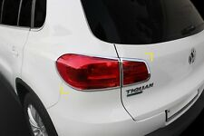 VW Volkswagen Tiguan 2012 - 2015 Chrome Rear Tail Light Trim Set (4 pieces)