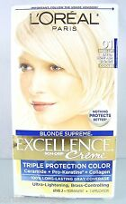NEW~L'OREAL HAIR COLOR~EXCELLENCE CREME~BLONDE SUPREME~EXTRA LIGHT ASH COOLER 01