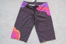 "New Women's Rip Curl Board Shorts Capri 15"" Brown~Pink~Orange Tropicalia Small 2"