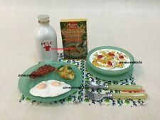 Re-ment dollhouse miniature cereal breakfast fried egg bacon milk 2004