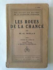 LES ROUES DE LA CHANCE 1926 WELLS COLLECTION MAITRES LITTERATURE ETRANGERE