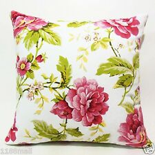"20""X20"" FFA-101 PEONY ON WHITE Quality Canvas Cushion/Pillow Cover"
