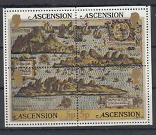Ascension Island 1981 Bf 12 Cartina dell'Isola MNH