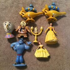 •• Disney princess Belle Beauty and the Beast Figure Cake Topper toy Lot Tea Cup