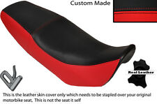 BLACK & RED CUSTOM FITS SKYJET 125 TMEC DUAL REAL LEATHER SEAT COVER