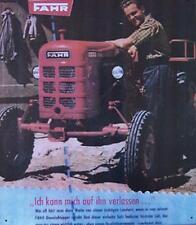 Älteres Blechschild Fahr Diesel Traktor Schlepper Reklame Werbung gebraucht used