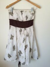 Fashion Temple Size 8 Cotton Lined Short Strapless Sun dress  T3953