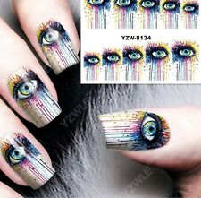 12 Sheet Mix Style Flower Water Transfer Nail Art Stickers Decals Decoration NEW