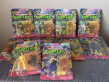 Vintage 1988 Playmates Teenage Mutant Ninja Turtles TMNT Complete Set Of 10 WOW!