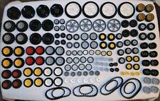 LEGO TECHNIC - WHEEL TIRES TANK TREADS - LARGE LOT - 250 PCS. - EUC - LOT B